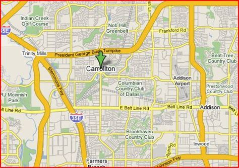 carrollton texas map carrollton texas map