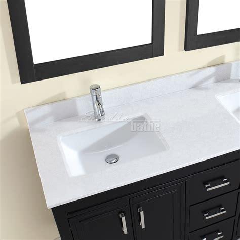 finished bathrooms studio bathe corniche 60 inch double bathroom vanity