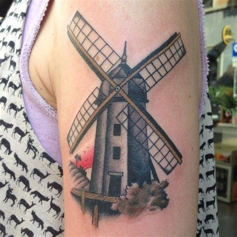 windmill tattoo 96 best tats images on ideas