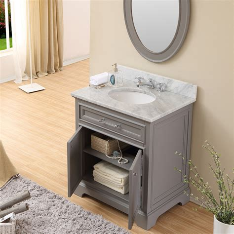 Carenton 30 Inch Traditional Bathroom Vanity Gray Finish Gray Bathroom Vanities