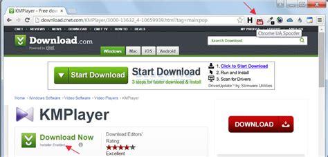 chrome ua spoofer download com offers adware free downloads only to chrome