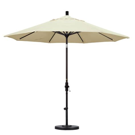 Tilting Patio Umbrella California Umbrella 9 Ft Aluminum Collar Tilt Patio Umbrella In Canvas Pacifica Gscu908117 Sa53