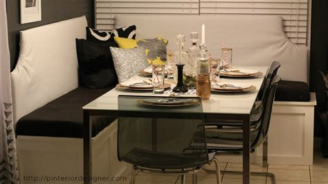 Interior Design Kitchens 2014 by Remodelaholic Build A Custom Corner Banquette Bench