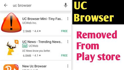 Play Store Browser Uc Browser Removed From Play Store News V World