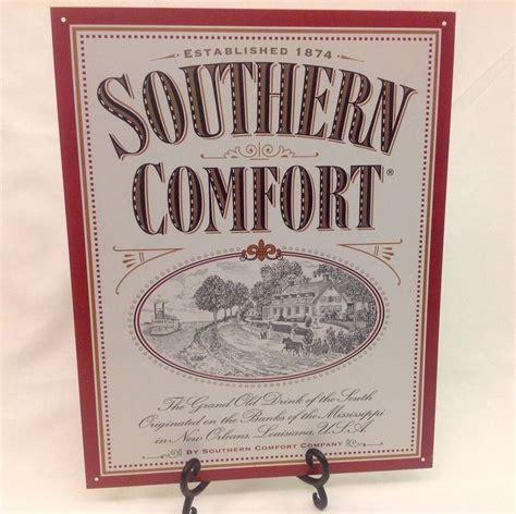 vintage southern comfort 2001 southern comfort tin metal advertising sign 16x12 5