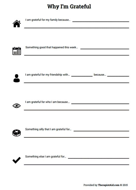 Gratitude Worksheets by Why I M Grateful Worksheet Therapist Aid