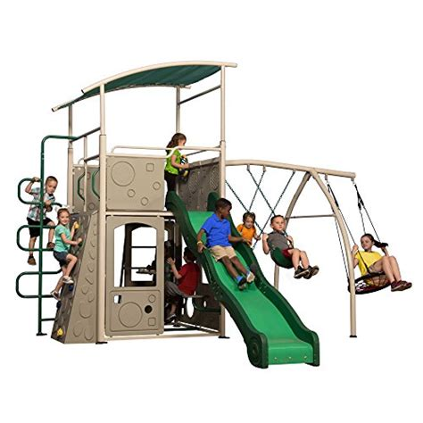 metal playground sets for backyards backyard discovery castle grey metal swing set and outdoor playground kids backyard
