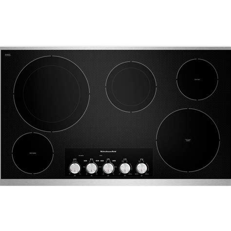 Electric Glass Cooktop kitchenaid 36 in ceramic glass electric cooktop in