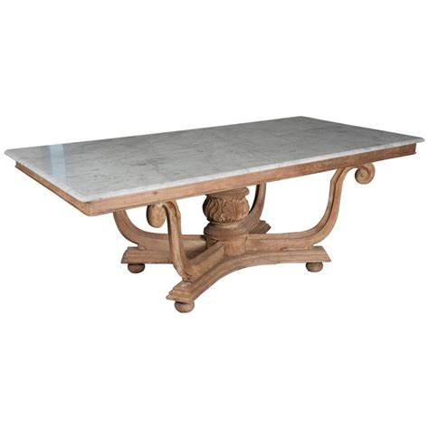 1930 Dining Table 1930s Marble Top Dining Table For Sale At 1stdibs