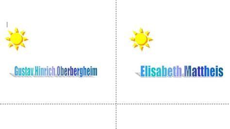 Word Vorlage Tischnamensschilder Word Vorlage Tischkarten Chip