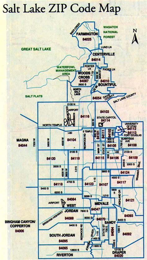 Zip Code Map Utah Salt Lake City | slc zip codes