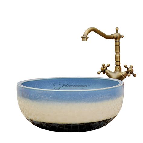 decorative bowl shaped multicolor sinks for small bathrooms