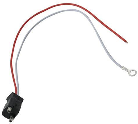 trailer pigtail wiring 2 wire pigtail for trailer back up lights optronics accessories and parts a45cb