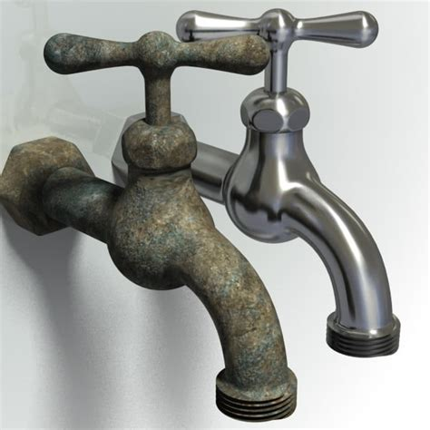 backyard faucet 3d model old outdoor spigot faucet