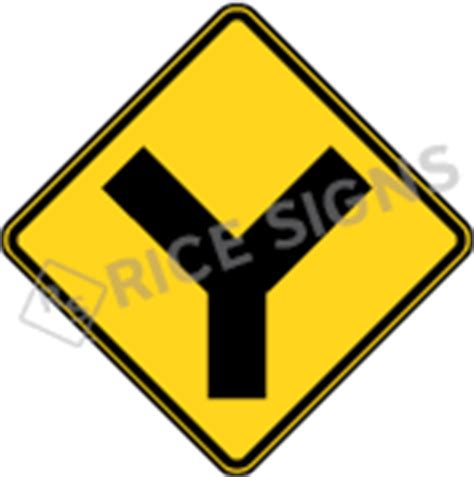 Y Intersection Signs Y Intersection Sign