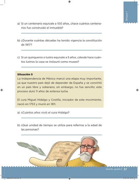 issuu libro de matemticas contestado desaf 237 os matem 225 ticos 5 176 grado para el alumno by escuelas
