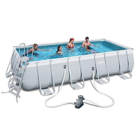 piscina best way piscina fuori terra rettangolare bestway 56481 cm 488 x