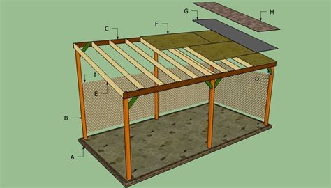 guide free lean to shed design nosote how to build a lean to carport howtospecialist how to