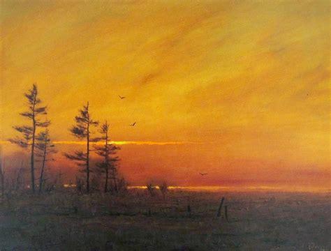 cuadros y fotos im 225 genes arte pinturas paisajes atardeceres en el mar