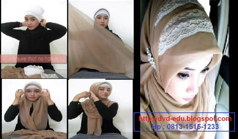 tutorial cara berhijab paris tutorial hijab paris segi empat ke pesta kombinasi tile
