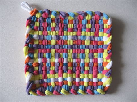Handmade Pot Holders - handmade woven pot holder mug mat multicolor free shipping