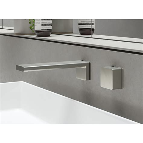 the bathroom factory store phoenix alia wall basin bath outlet brushed nickel at the blue space