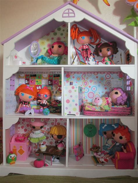 lalaloopsy dolls house custom doll house for lalaloopsy s we have this as a bookshelf cant wait to make it