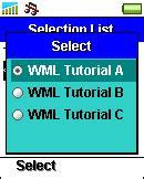 wap wml tutorial pdf wml tutorial wml selection lists select option tags