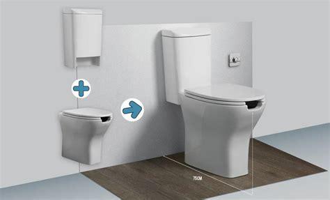 wc sospeso con cassetta esterna sanitari per anziani e disabili wc bidet integrati
