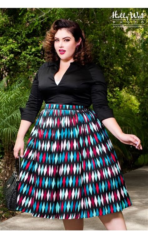 Sabrina Printing Nz pinup couture skirt in turquoise and black