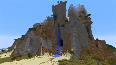 minecraft seeds seed epic mountains the mountain minecraft seeds