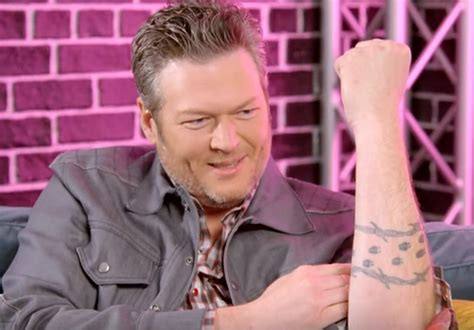blake shelton tattoo shelton opens up about quot ladybug quot tattoos