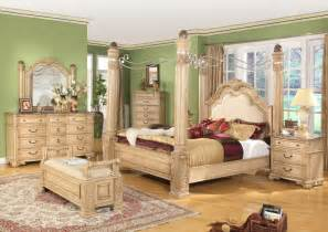 Poster Bedroom Sets With Canopy King Traditional Poster Canopy Bed W Leather 5