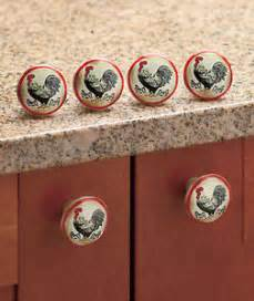 Country Kitchen Cabinet Knobs Set Of 6 Country Kitchen Rooster Drawer Pulls Cabinet