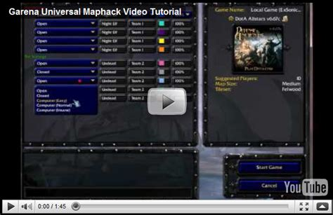 tutorial maphack dota 1 24b garena universal maphack video tutorial dota source com