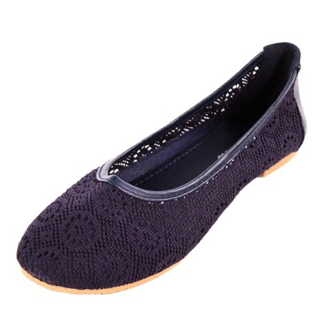 lace shoes flats womens lace ballet flats mesh crochet slip on casual shoes
