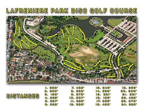 louisiana golf map lafreniere park metairie la disc golf courses disc