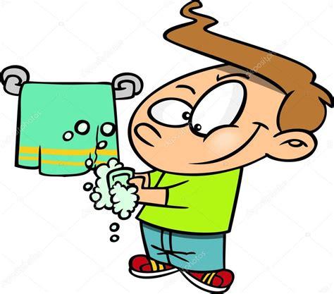 imagenes animadas lavandose las manos ni 241 o de dibujos animados lavarse las manos archivo
