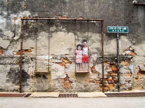 george town penang malaysia graffiti de arte callejero