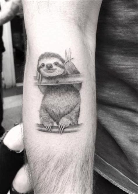 sloth tattoo 40 unique forearm tattoos for with style tattooblend