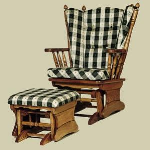 oak glider rocker with ottoman 17 best images about rocking chairs mennonite furniture