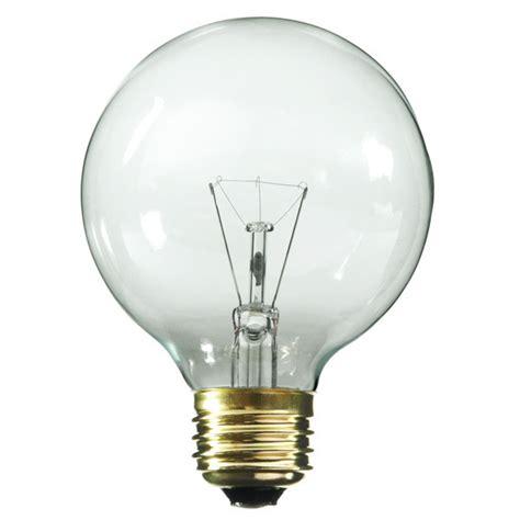 clear incandescent light bulbs satco s3887 25 watt g18 globe clear bulb