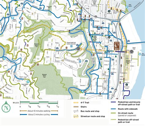 map of oregon hospitals walking and running transportation parking ohsu