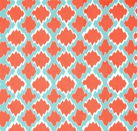Home Decorating Fabric By The Yard | boho coral home decor fabric by the yard designer by