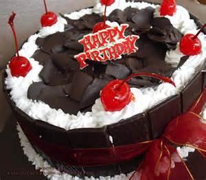 Tusuk Kue Ultah Plus Nama Dan Foto Black Forest Shafira Cake