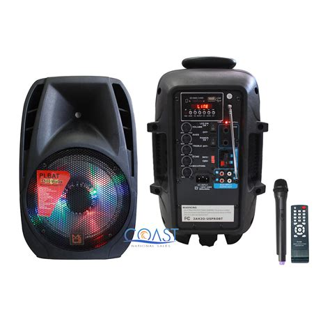 Kit Power Karaoke Mp3 Subwoofer Dms 1500 Bluetooth mr dj pro 8 quot 1500w bluetooth pa fm radio karaoke speaker wireless microphone ebay