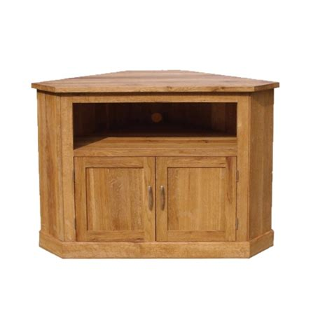 Brooklyn Contemporary Oak Corner TV Cabinet   Oak