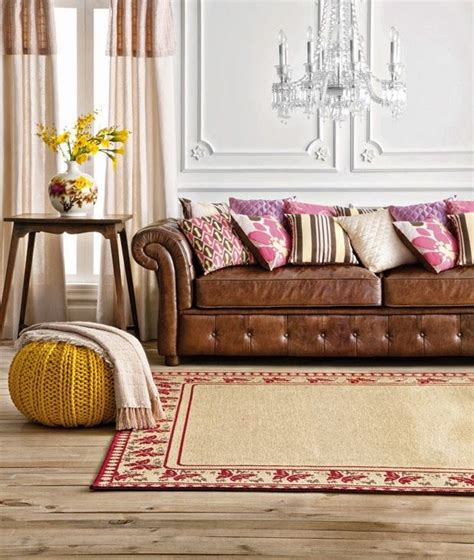 cushions for cream leather sofa tan leather chesterfield sofa with pink and brown cushions