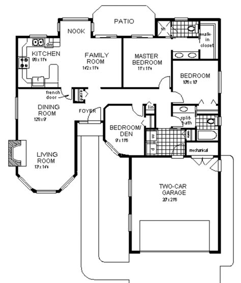 800 Sq Ft House Plans 3 Bedroom by Ranch Style House Plan 3 Beds 2 Baths 1450 Sq Ft Plan