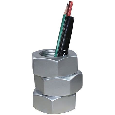 pencil holder for desk bolt pen pencil holder for desk or workshop